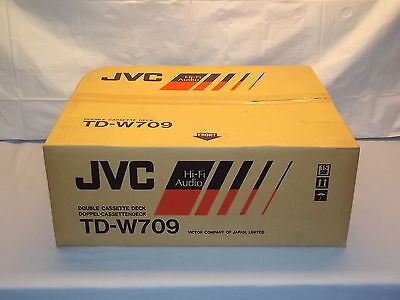 JVC TD-W709 Stereo Double Cassette Tape Deck Player / Recorder NEW In Box