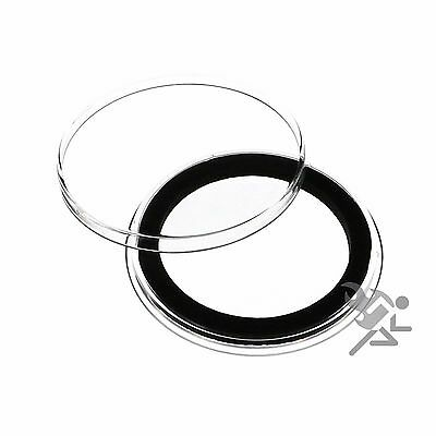 Morgan Silver Dollar Coin Capsules, Air-Tite Holders 38mm Black Ring, 25 Pack