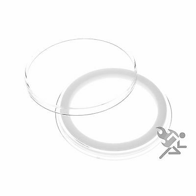 Morgan Silver Dollar Coin Capsules, Air-Tite Holders 38mm White Ring, 10 Pack
