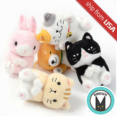 Genuine Japan Amuse Nekkorogari Tai Standard Plush Cat Rabbit Shiba Dog Sit Cute