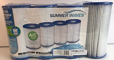 New Type A or C Pool Filter Cartridge 4 Pack Universal Summer Waves Pump Water