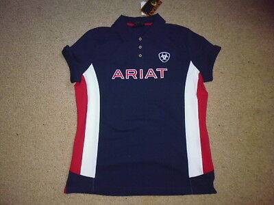 Pikeur ladies Team Polo Short Sleeve Shirt Top navy blue size XL UK 16