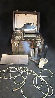 Antique Double Cell Faradic Battery  ~ Shock Machine ~ Quack Medicine ~ Dovetail