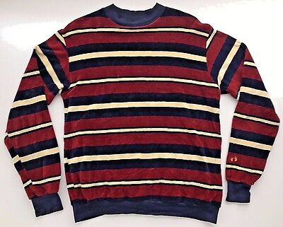 HANG TEN Vintage Sweater Striped Mens XL 100% Combed Cotton Surfer Made In USA