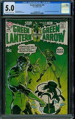 Green Lantern 76 CGC 5.0 - OW/W Pages