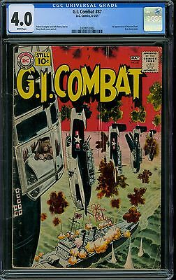 G.I. Combat 87 CGC 4.0 - White Pages