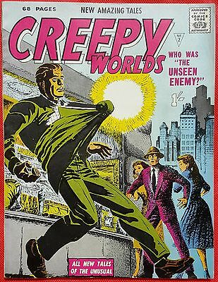 CREEPY WORLDS 2 ALAN CLASS 1962 Harry Anderson Cover  vf/nmt