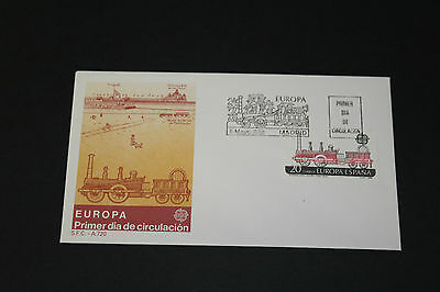 Spain 1988 Locomotive Trains First Day Cover