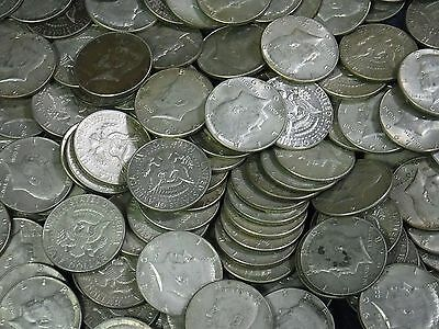 Full Roll of Average Circ KENNEDY 40% SILVER Half Dollars