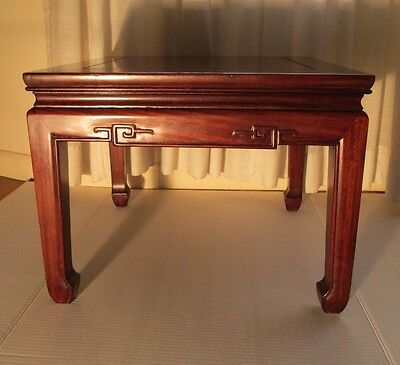 Vintage Asian Chinese Hardwood Teak or Rosewood Low Side Table or Coffee Table