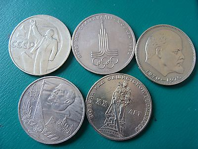 Russia Mix Lot Of 5 Commemorative Coins Lot#1