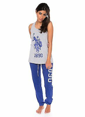 U.S. Polo Assn. Women's 2 Piece Graphic Racerback Tank & Sweat Pants Pajama Set