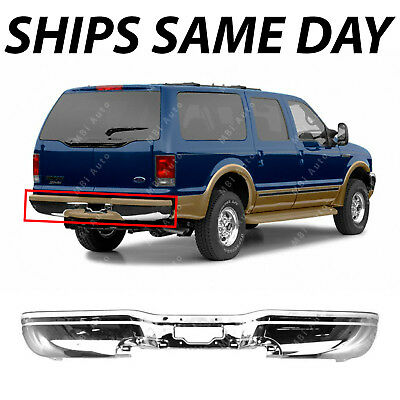 NEW Chrome - Steel Rear Bumper Face Bar Replacement for 2000-2005 Ford Excursion