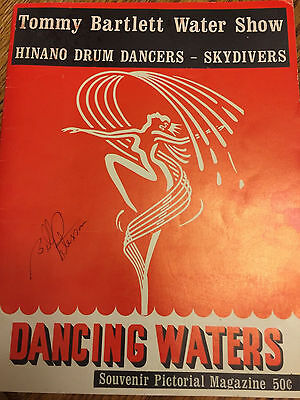 Very Rare Vintage 1950's Dancing Waters Magazine: Tommy Bartlett Water Show