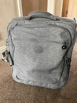 Kipling Light Grey Small Suitcase • NEW • Limited Edition