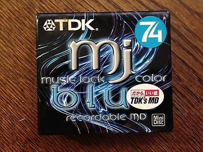 Minidisc - TDK MJ 74 package of two sealed BRAND NEW