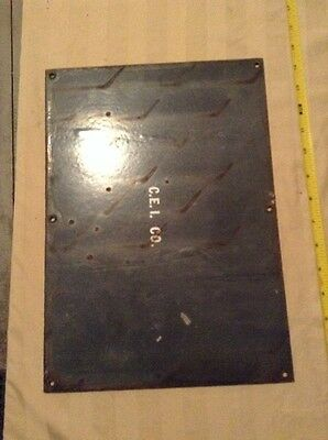 CEI co. Porcelain Danger Signage, High Voltage Sign, burnt wear