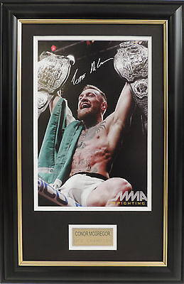 Connor McGregor The Notorious Signed Framed Photo UFC Dual Champion MMA