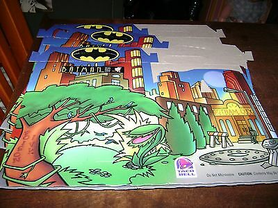 Taco Bell Batman Kids Meal Boxes...Set of 4