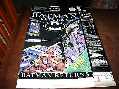 Batman Returns Cereal Box...BOX ONLY