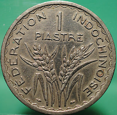 1947 French Indochina One 1 Piastre Coin