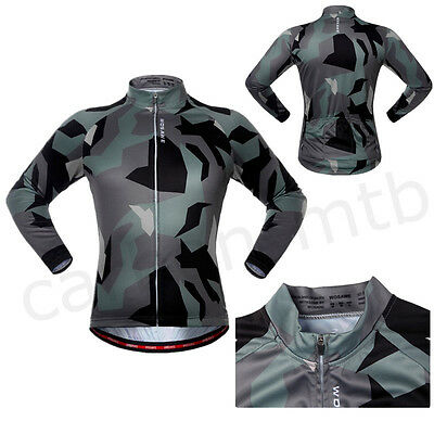 Men Womens Bicycle Camouflage Long Sleeve Jersey Road Bike Sport Shirt  Quick Dry 0f6071125