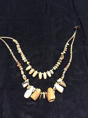 Antique Pre-Columbian Aztec- Olmec ,shell Beads From Central Mexico