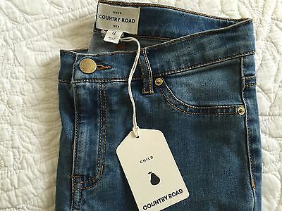 COUNTRY ROAD  Childs 5 Pkt Style Skinny Jean / Jegging Indigo Wash 12