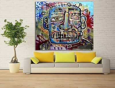 MASSIVE  Street Art Canvas Modern Abstract Huge Decor Oil PAINTING Home Urban