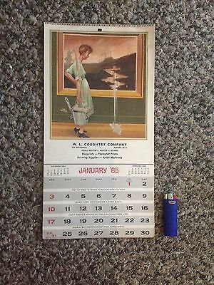 Vintage unused 1965 W. L. Coughtry promotional calendar Albany NY