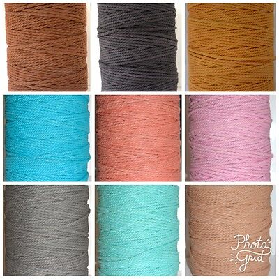 Macrame Cotton Rope Cord - 1kg Coloured