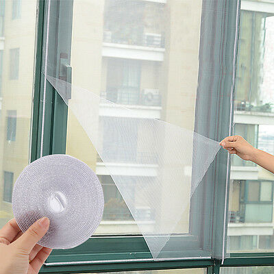 White Anti-Insect Fly Bug Mosquito Window Curtain Net Mesh Screen Protector