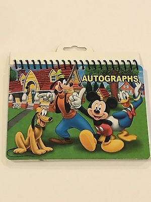 Disney Mickey Mouse Minnie Donald Pluto Green Autograph Book Group