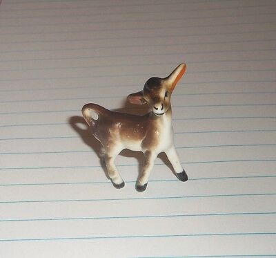VINTAGE MINIATURE BONE CHINA DONKEY Japan