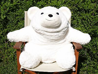 "Ultra Rare Gund - Huge 30"" White Pottery Barn Kids - Snuffles Bear- #43091- 2003"