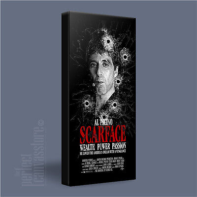 08de2cbdfd1 SCARFACE TONY MONTANA CLASSIC PACINO ICONIC CANVAS ART PRINT PICTURE  ArtWilliams