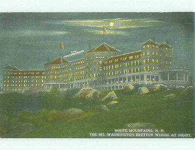 Divided Back MOUNT WASHINGTON HOTEL White Mountains New Hampshire NH hr9305