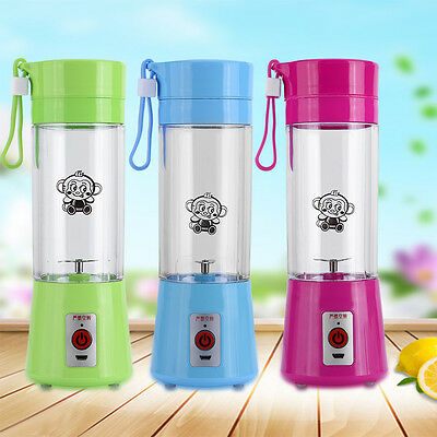400mL Multifunctional Portable Rechargeable USB Charging Electric Mini Juicer AM