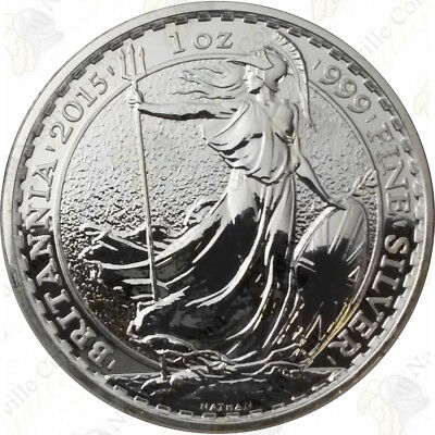 2015 Great Britain Silver Britannia - 1 oz - Uncirculated - SKU #67715
