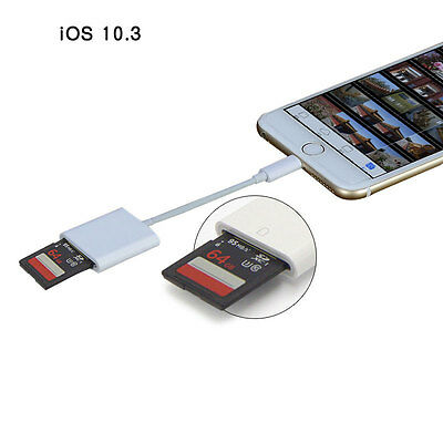 8 Pin Lightning to SD Card Camera Reader Photo Adapter for iPhone iPad Tablet