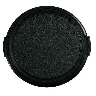 1pcs Universal 55mm Snap on Camera Front Lens Cap Plastic Black for DSLR Filter