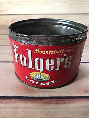 Vintage Folgers Coffee Tin Can NO LID