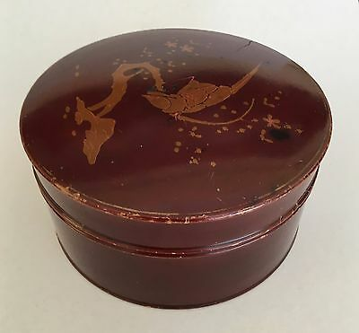 Antique Victorian Aesthetic Movement Japanese Lacquer Collar Box c.1890