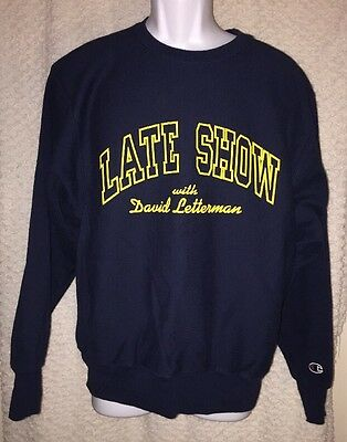 Late Show with David Letterman Sweatshirt size adult Medium by Champion