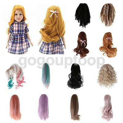 Assorted Styles Wig Hairpiece Curly/Straight Hair for 18 Inch American Girl Doll