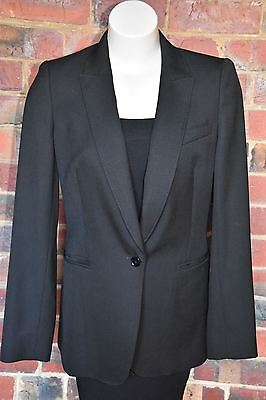 COUNTRY ROAD Black Wool Tailored Jacket - Size 12 - EUC