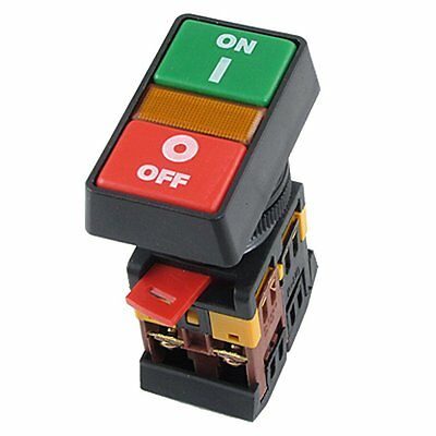 ON OFF START STOP Push Button Light Indicator Momentary Switch Red Green PoRDUJ