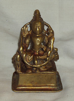 Antique Hindu Traditional Indian Ritual Bronze Shiva And Parvati with Horse Rare
