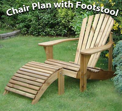 Adirondack Chair Plans with Footstool