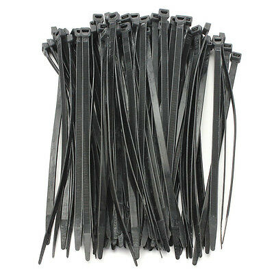 100PCS Strong Cable Ties / Tie Wraps Zip Ties Color:Black Size:5*300mm Y1V4 L0V4